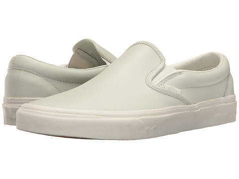 Incaltaminte Femei Vans Classic Slip-Ontrade (Leather) Zephyr BlueBlanc De Blanc