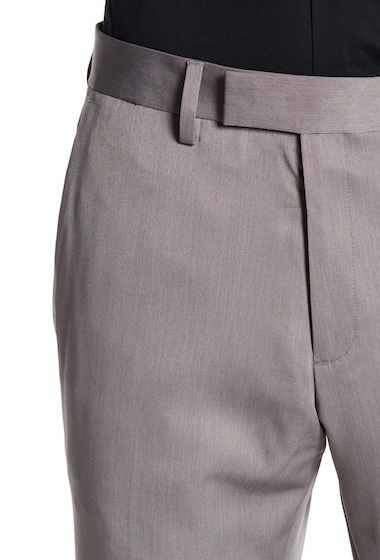 Imbracaminte Barbati Kenneth Cole Reaction Urban Heather Slim-Fit Flat Front Dress Pants - 29-34 Inseam GREY