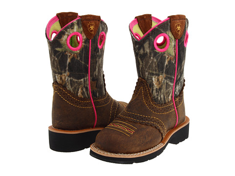 Incaltaminte Fete Ariat Fatbaby Cowgirl (ToddlerLittle KidBig Kid) Rough BrownMossy Oak