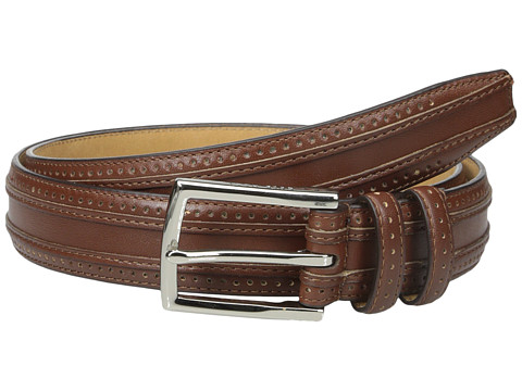 Accesorii Barbati Cole Haan 30mm Feather Edge Stitched Strap with Perforation and Overlay Detail Tan