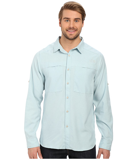 Imbracaminte Barbati The North Face Long Sleeve Traverse Shirt Cloud Blue Heather (Prior Season)