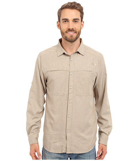Imbracaminte Barbati The North Face Long Sleeve Traverse Shirt Dune Beige Heather (Prior Season)
