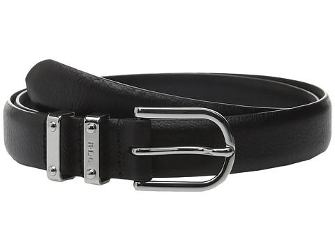 Accesorii Femei LAUREN Ralph Lauren Classics 1quot Embossed Leather w Double Metal Keeper Black