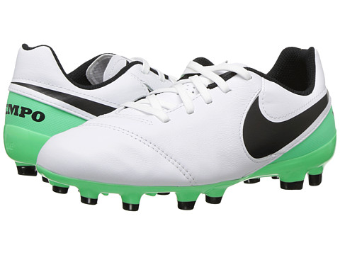 Incaltaminte Fete Nike Jr Tiempo Legend VI FG Soccer (ToddlerLittle KidBig Kid) WhiteBlackElectro Green