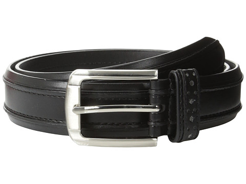 Accesorii Barbati Stacy Adams 32mm Genuine Leather Casual Belt w Raised Inner Edge Black