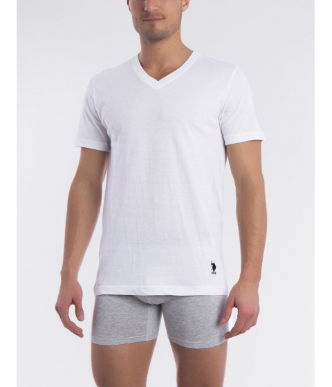 Imbracaminte Barbati US Polo Assn 3 Pack V-Neck Tee White