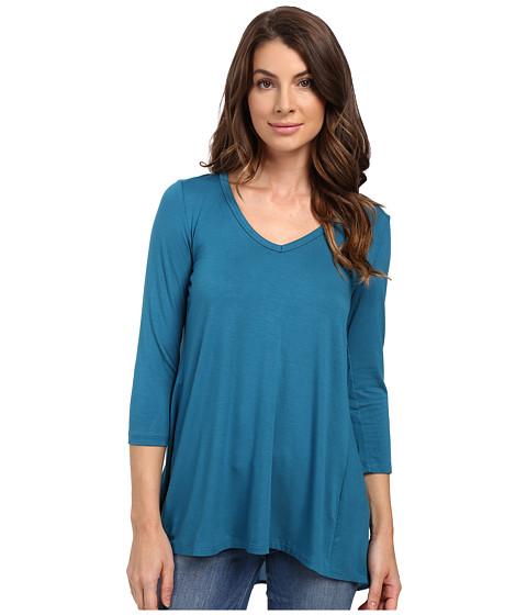 Imbracaminte Femei Karen Kane Shirred Contrast-Back Top Baltic Blue
