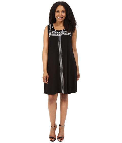 Imbracaminte Femei Karen Kane Plus Size Embroidered Sleeveless Trapeze Dress Black