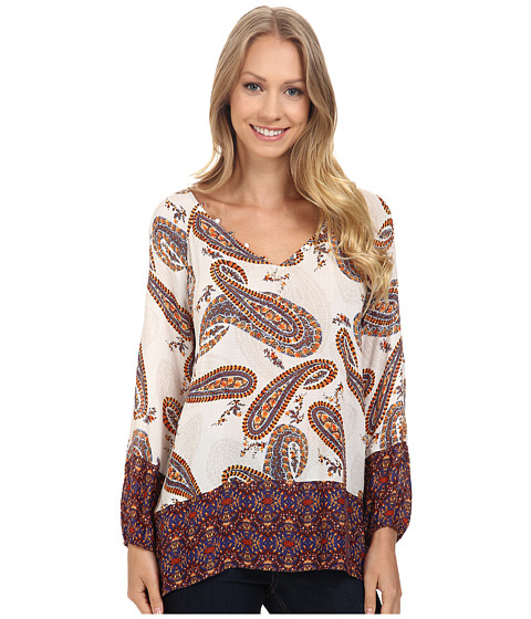 Imbracaminte Femei Lucky Brand Paisley Print Blouse Natural Multi