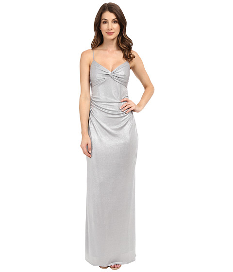 Imbracaminte Femei Laundry by Shelli Segal Twist Front Metallic Dress Chrome