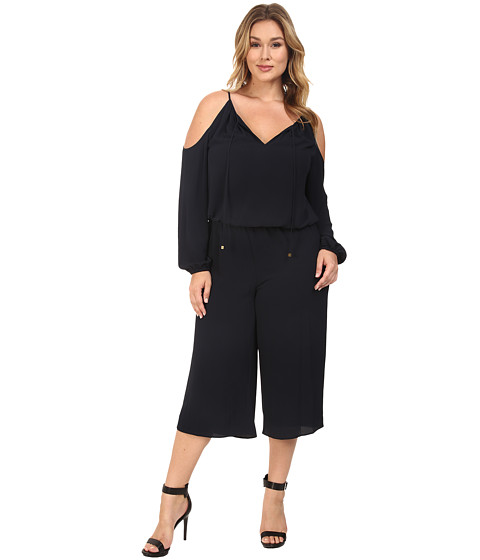 Imbracaminte Femei MICHAEL Michael Kors Plus Size Cold Shoulder Jumpsuit New Navy