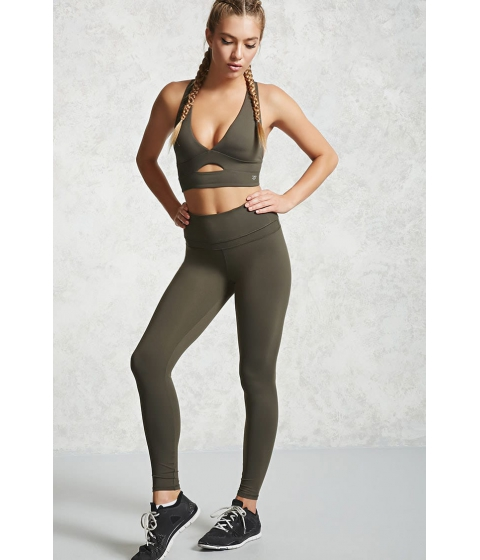 Imbracaminte Femei Forever21 Active High-Waisted Leggings Olive