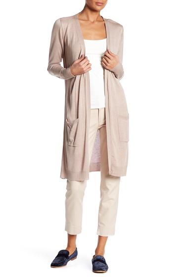 Imbracaminte Femei JOSEPH A Knit Longline Cardigan MOCHA HEAT