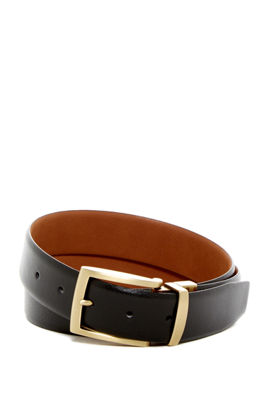 Accesorii Barbati Boconi Harrison Reversible Leather Belt REV-BLK-TAN
