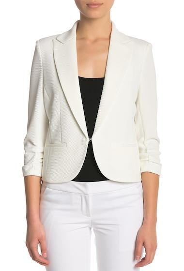 Imbracaminte Femei Amanda Chelsea Ruched Sleeve Blazer Petite WHITE