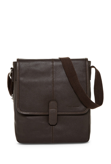 Genti Barbati Cole Haan Pebble Leather Reporter Bag CHOCOLATE