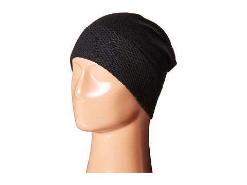 Accesorii Femei Cole Haan Tuck Stitch Cuff Slouchy Beanie Black