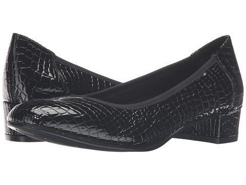 Incaltaminte Femei David Tate Piper Black Croc Patent Print