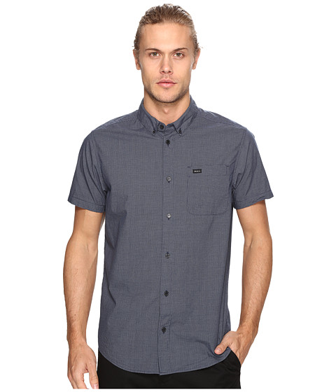 Imbracaminte Barbati RVCA Thatll Do Micro Short Sleeve Federal Blue