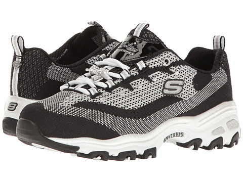 Incaltaminte Femei SKECHERS DLites - Shiny amp New BlackWhite