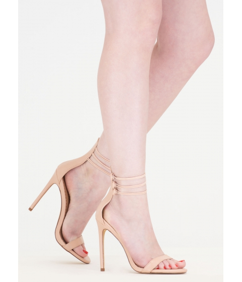 Incaltaminte Femei CheapChic In The Loop Strappy Buttoned Heels Nude