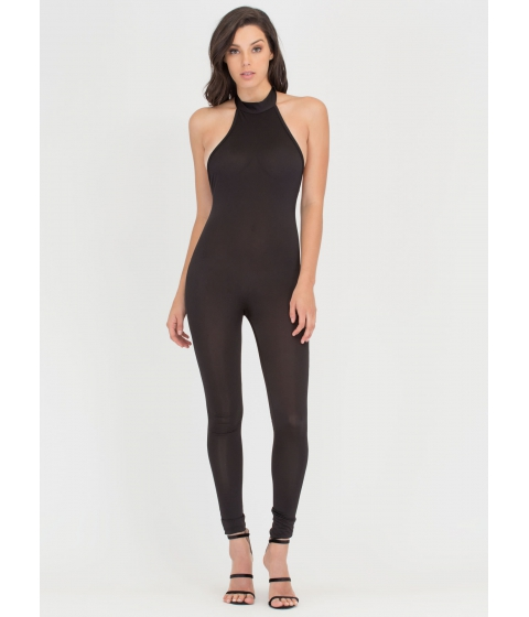 Imbracaminte Femei CheapChic Tied To The Finish Mockneck Jumpsuit Black