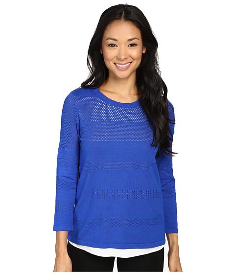 Imbracaminte Femei Calvin Klein Perforated Sweater Twofer Celestial