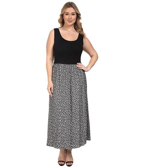 Imbracaminte Femei Calvin Klein Plus Size Maxi Dress w Jacquard Bottom Soft White