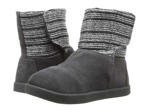Incaltaminte Fete TOMS Nepal Boot (InfantToddlerLittle Kid) Castlerock Grey Metallic WovenSuede