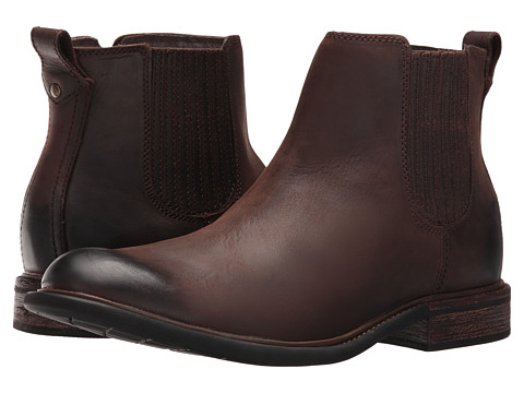 Incaltaminte Barbati SKECHERS Cobden Dark Brown Leather