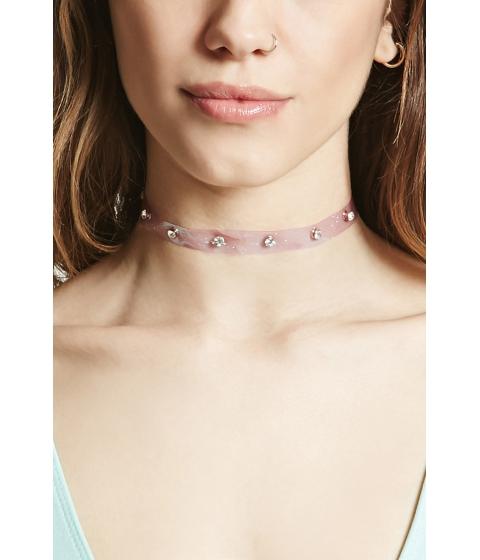 Bijuterii Femei Forever21 Rhinestone Jelly Choker Lavenderclear
