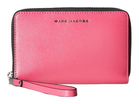 Accesorii Femei Marc Jacobs Saffiano Bicolor Zip Phone Wristlet MagentaPink