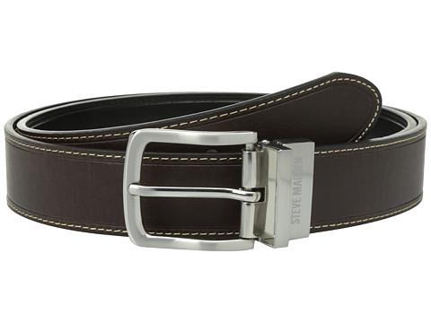 Accesorii Barbati Steve Madden 35mm Oil Tanned Reversible Belt BrownBlack
