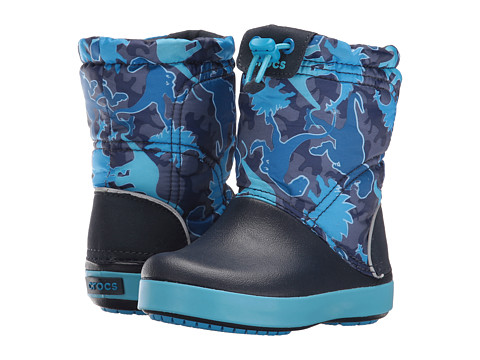 Incaltaminte Fete Crocs Crocband Lodge Point Graphic Boot (ToddlerLittle Kid) Blue Camo
