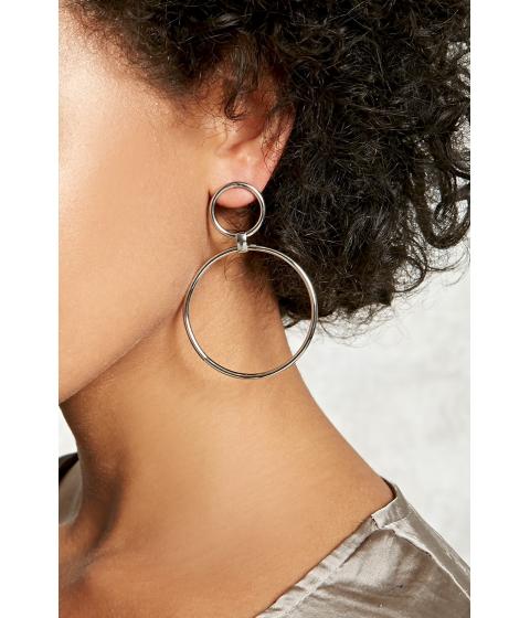 Bijuterii Femei Forever21 Circle Drop Earrings Silver