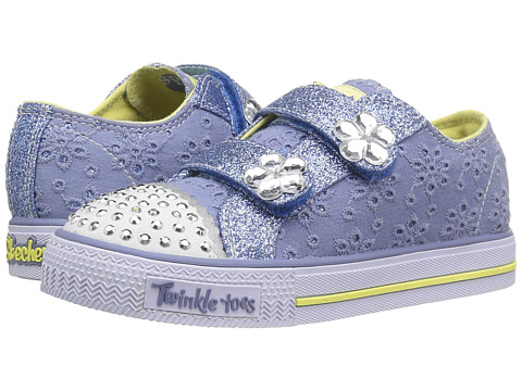 Incaltaminte Fete SKECHERS Twinkle Toes - Shuffles 10724N Lights (ToddlerLittle Kid) BlueYellow