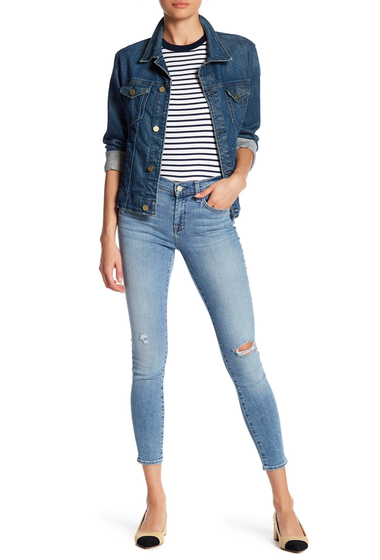 Imbracaminte Femei 7 For All Mankind Gwenevere Distressed Skinny Ankle Jeans ELOISERD2