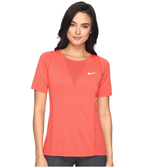 Imbracaminte Femei Nike Zonal Cooling Relay Short Sleeve Running Top Max OrangeReflective Silver