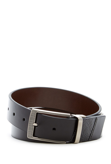 Accesorii Barbati Robert Graham Terdel Reversible Leather Belt BLACK
