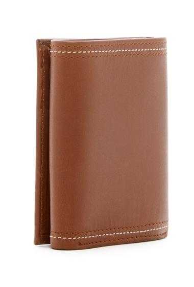 Accesorii Barbati Original Penguin Glossy Leather Trifold Wallet BRN