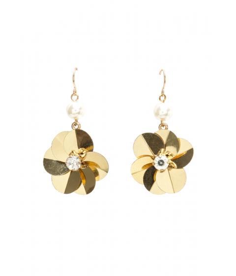 Accesorii Femei CheapChic Petal To The Metal Faux Pearl Earrings Gold