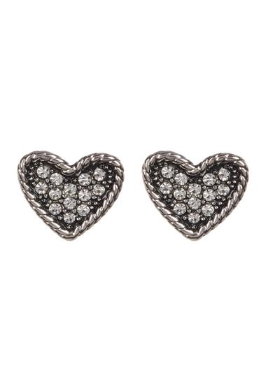 Bijuterii Femei Marc by Marc Jacobs Crystal Detail Heart Stud Earrings CRYSTAL-SILVER