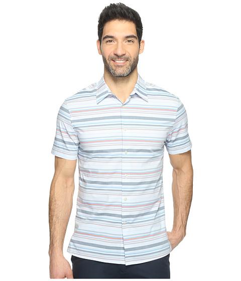 Imbracaminte Barbati Perry Ellis Multi Horizontal Stripe Shirt Kentucky Blue