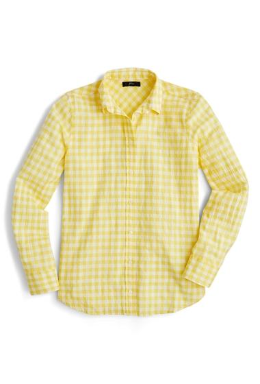 Imbracaminte Femei J Crew Crinkle Gingham Boy Shirt YELLOW
