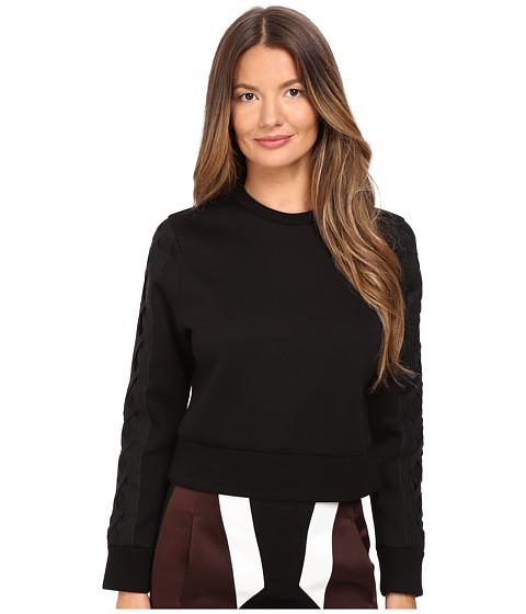 Imbracaminte Femei NEIL BARRETT Skinny Short Laced Sweatshirt Black