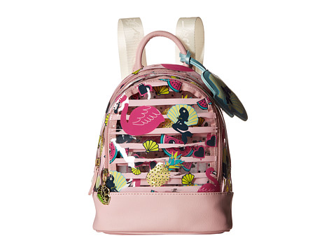 Genti Femei Luv Betsey by Betsey Johnson Jellyy Clear Petite Backpack Flamingo