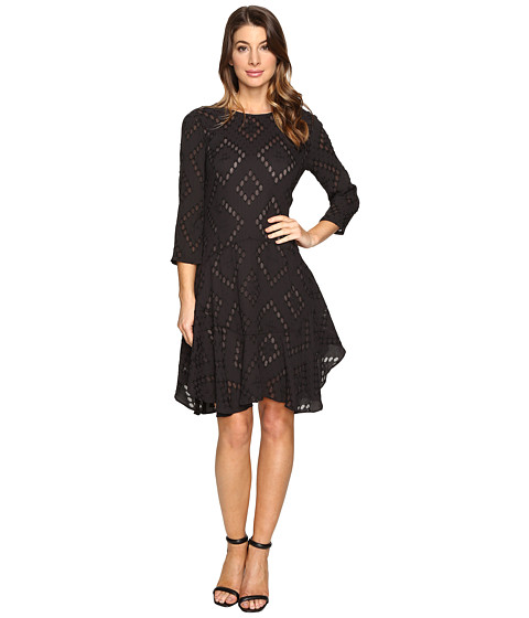 Imbracaminte Femei Donna Morgan 34 Sleeve Flounce Dress Marine