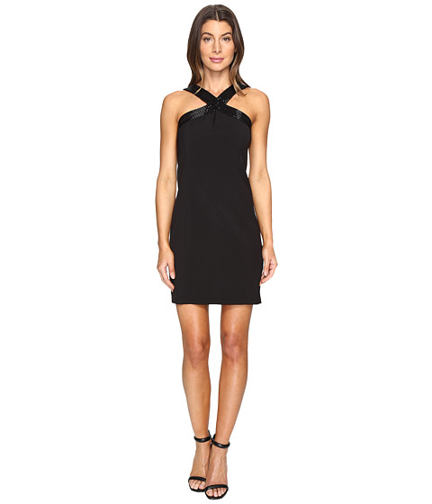 Imbracaminte Femei Laundry by Shelli Segal Cross Front Beaded Cocktail Dress Black