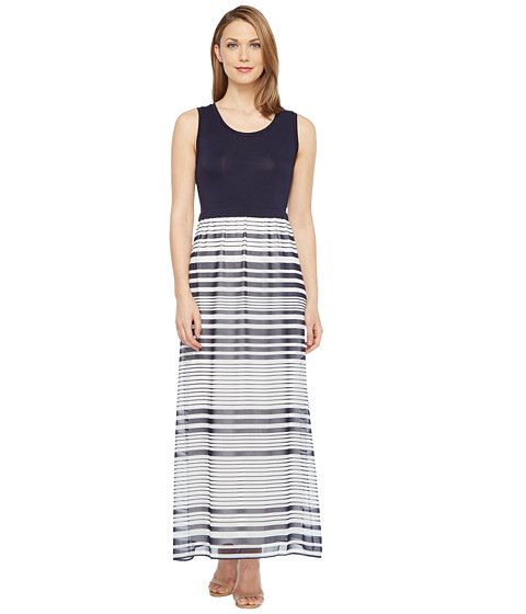 Imbracaminte Femei Calvin Klein Printed Maxi with Chiffon Bottom TwilightSoft White Multi