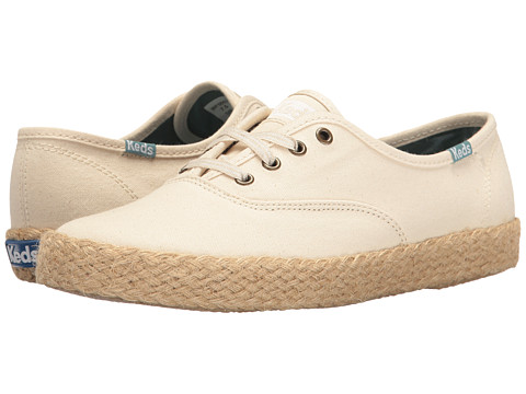 Incaltaminte Femei Keds Champion Salt Wash Canvas Jute Cream